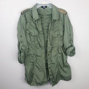 Express Army Green Military Jacket
